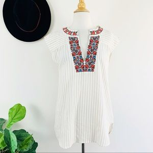 New Madewell decorated neckline blouse